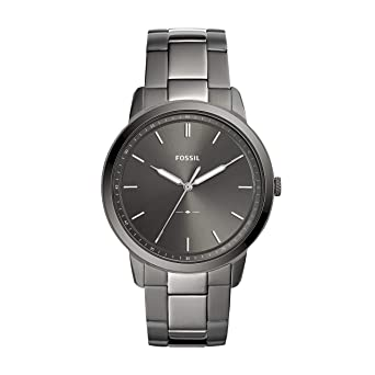 9928f12c8136 Amazon.com  Fossil Men s The The Minimalist 3H Quartz Stainless-Steel-Plated  Strap