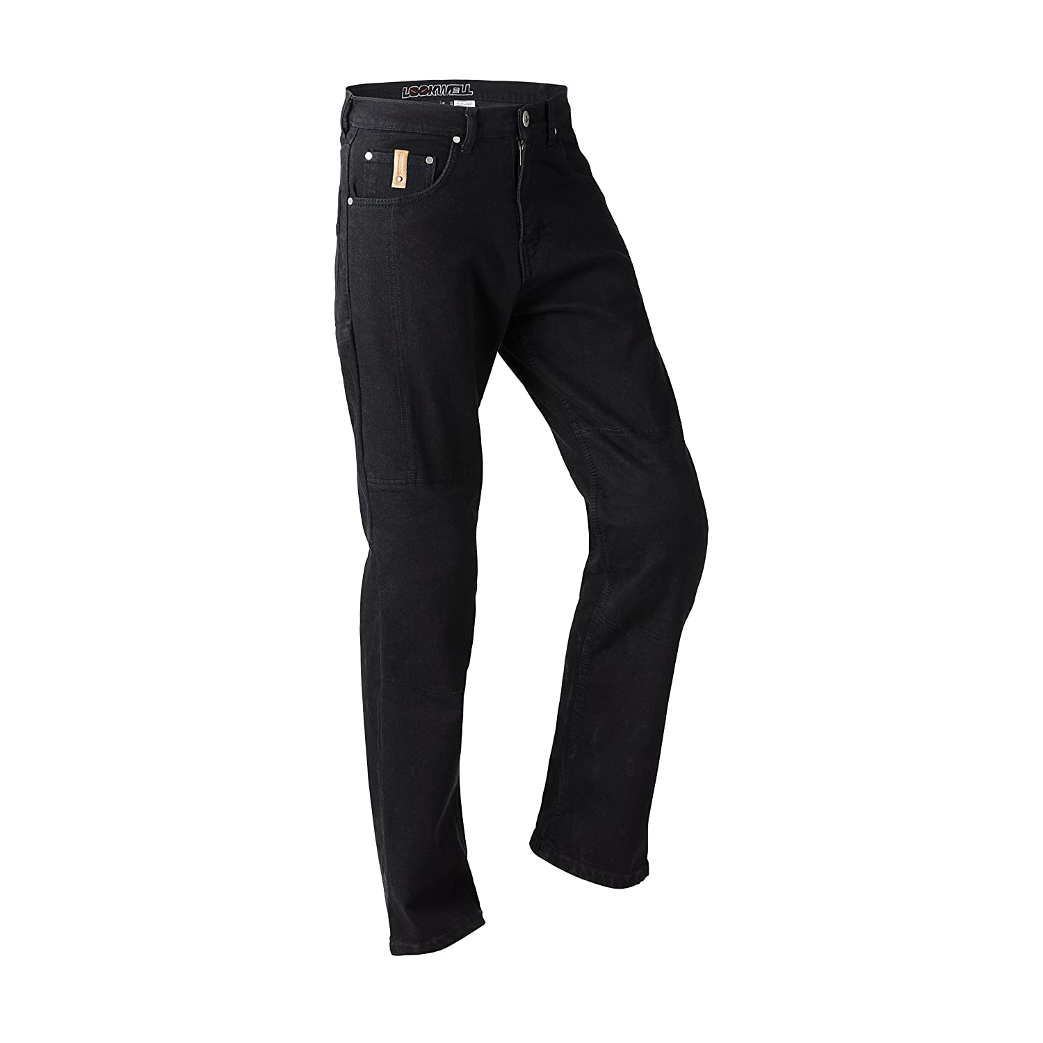28-46 Regular, Short /& Long Long Leg Black Size 36 Lookwell Jona Kevlar Jeans Mens Motorcycle and Motorbike Pants Armoured CE-Approved Stretch
