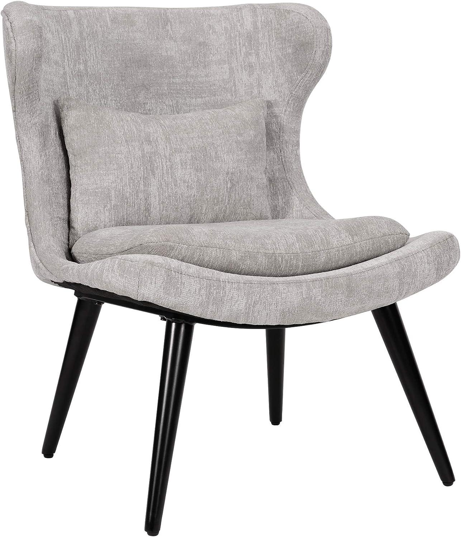 """Ball & Cast HSA-6010 Accent chair, 25"""" W x 29""""D x 32.5"""" H, Grey"""
