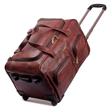 0a452a9d2ff5 Image Unavailable. Image not available for. Colour  The Clownfish Cruiser  45 liters Faux Leather Travel Duffel Trolley ...