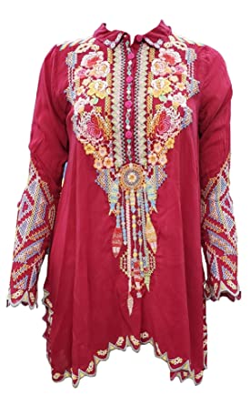 daa876a2b63af Johnny Was Womens Festival Tunic at Amazon Women s Clothing store