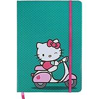 Caderneta de Anotação Hello Kitty Ridding a Bike, Urban, Verde