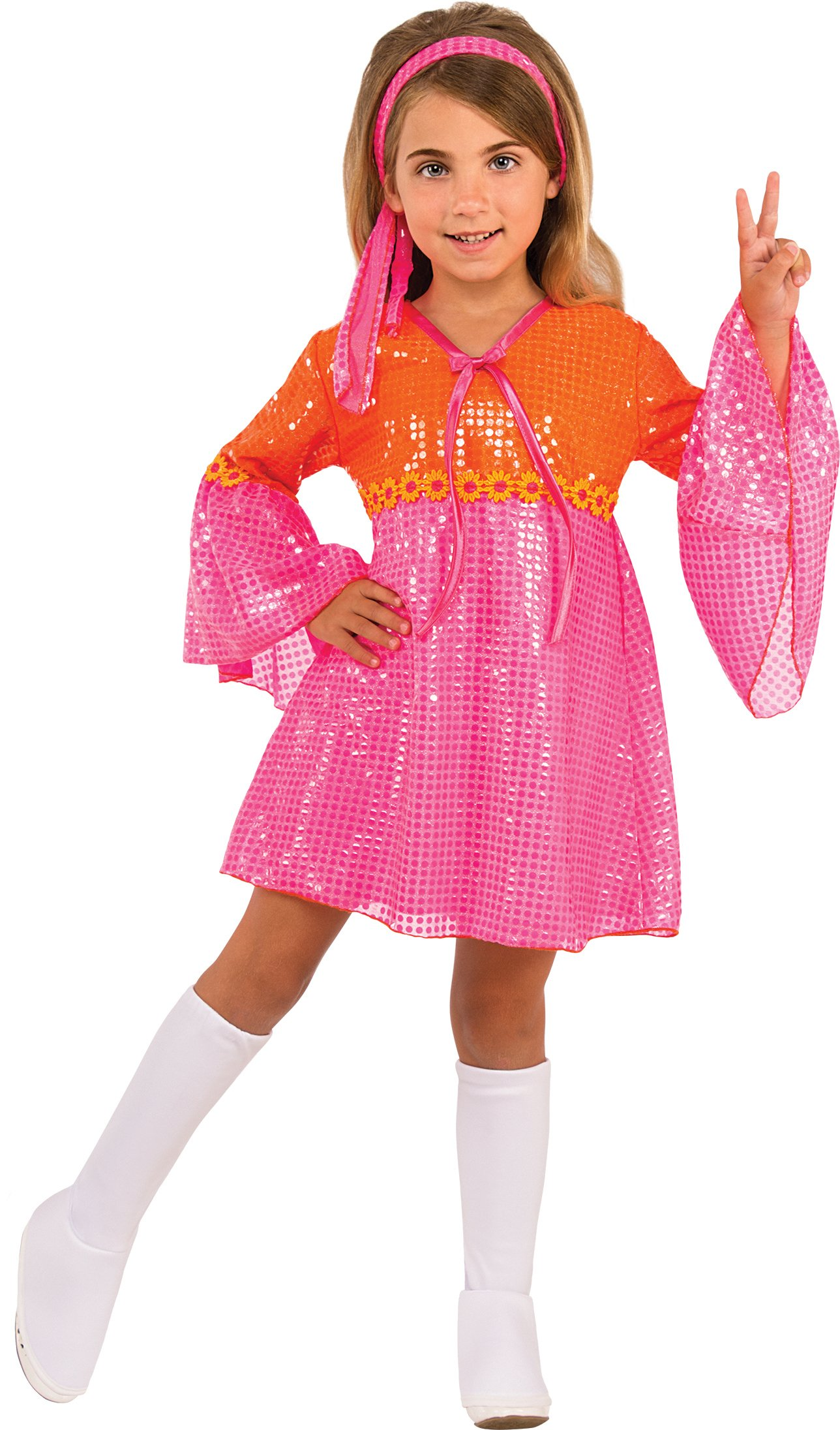 Rubies Costume Child's Go Go Girl Costume, Pink, Small