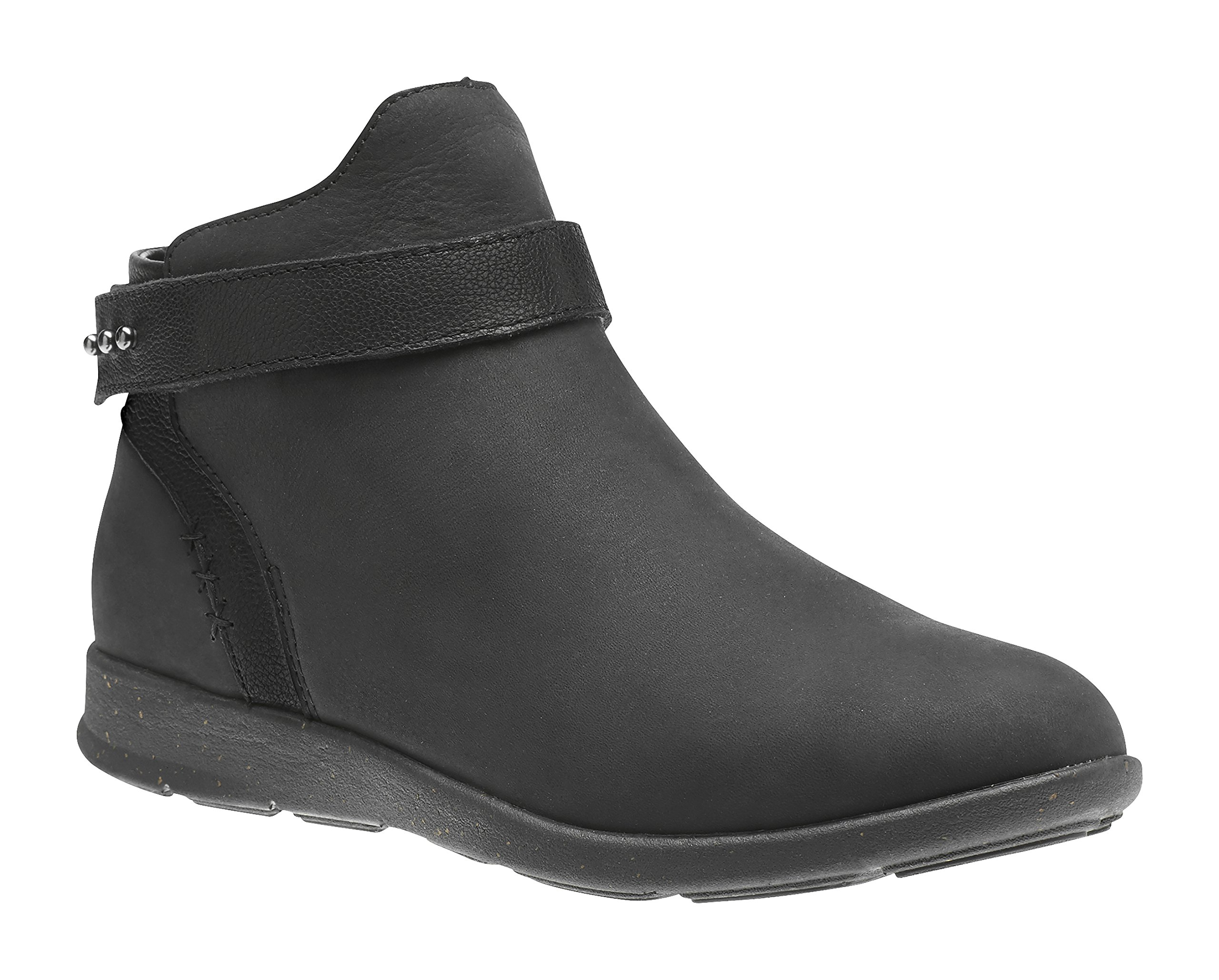 Superfeet Ash Women's Comfort Casual Boot, Black/Black, Full Grain Leather, Women's 8 US
