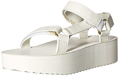 f1611099a0a4 Teva Women s Flatform Universal Crafted Sandal White 7 B(M) US ...