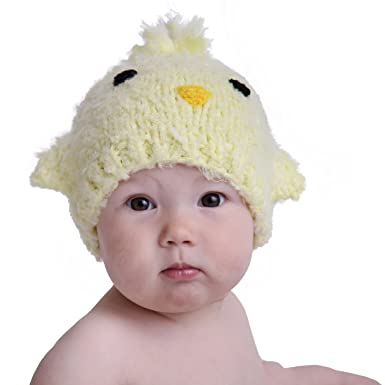 392077bfbf28f Amazon.com  Huggalugs Baby and Toddler Peep Chick Knit Beanie Hat ...