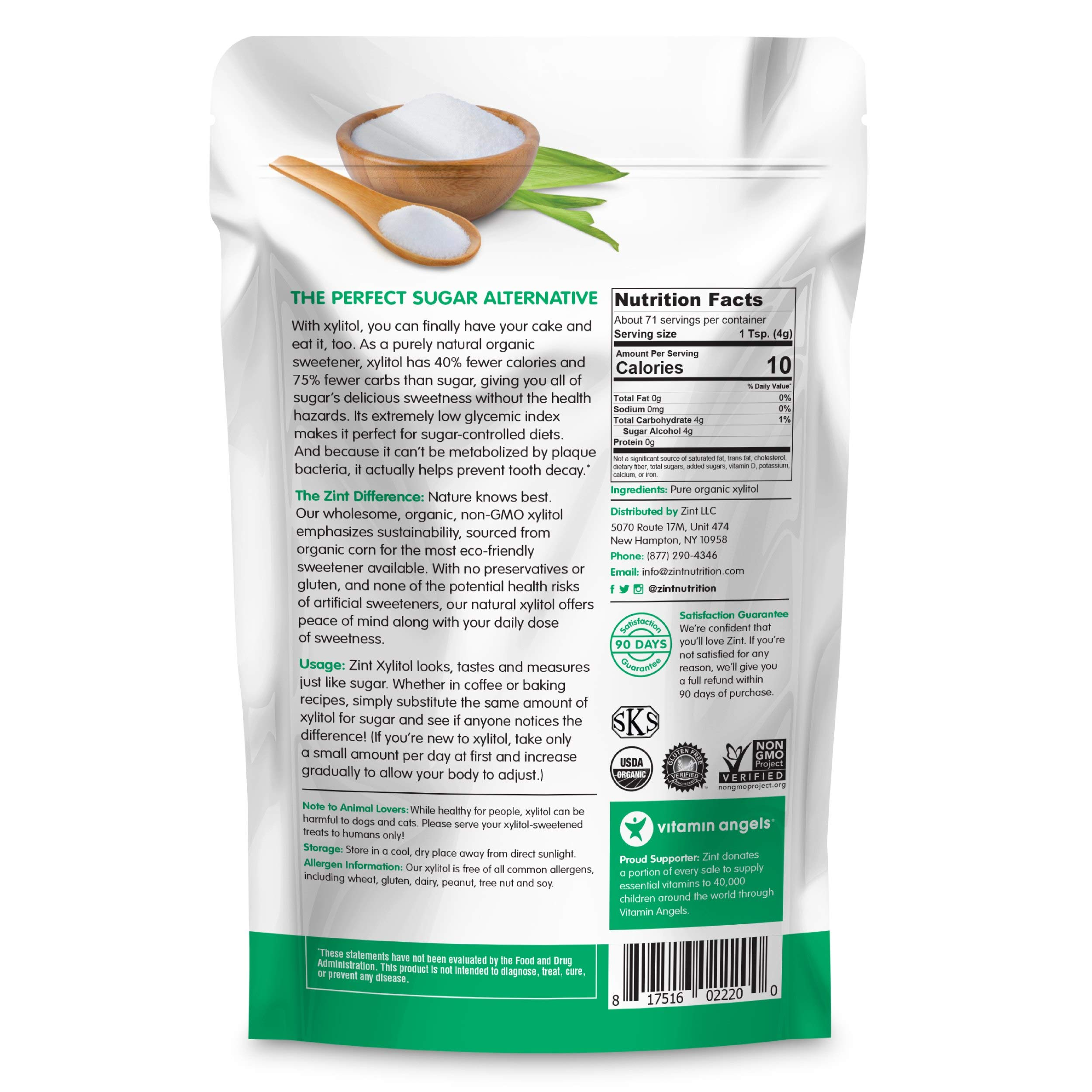 Organic Xylitol Sweetener (10 oz): Keto Friendly, Organic Certified Natural Sugar Substitute, Non GMO, Low Glycemic Index, Measures & Tastes Like Sugar by Zint (Image #8)