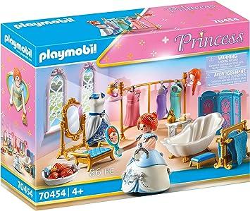 Playmobil Princess 70454 Ankleidezimmer Mit Badewanne Ab 4 Jahren Amazon De Spielzeug
