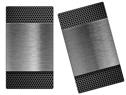Outdoor Küche Edelstahl Optik : Herdabdeckplatten schneidebrett aus glas edelstahl optik