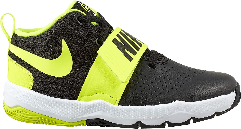 Nike Boys' Team Hustle D 8 (PS) Basketball Shoe, Black/Metallic Silver-White 881942