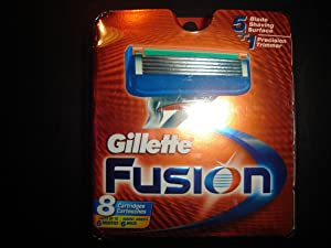GILLETTE FUSION RAZOR REFILL CARTRIDGES - Genuine with Serial Numbers - 16 COUNT