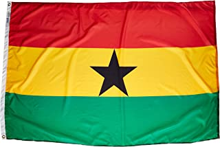 product image for Annin Flagmakers Model 192969 Ghana Flag Nylon SolarGuard NYL-Glo, 4x6 ft, 100% Made in USA to Official United Nations Design Specifications