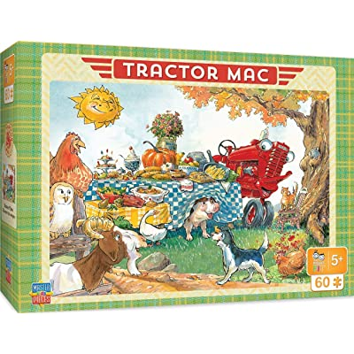 "MasterPieces The Right Fit Kids Tractor Mac Jigsaw Puzzle, Dinner Time, Tillywig Top Fun Award, 60 Piece, For Age 5+, 14""x19\"": Toys & Games [5Bkhe1902522]"