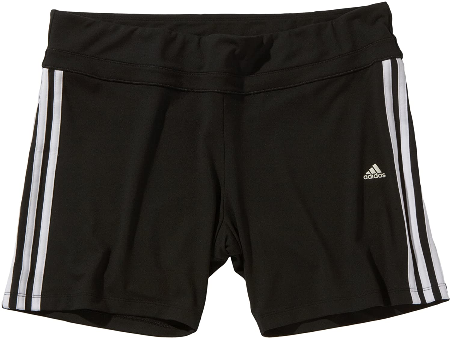 finest selection cb709 660d7 adidas Clima Essentials Women s Shorts 3-Stripes Tight black   white  Size XL  Amazon.co.uk  Sports   Outdoors