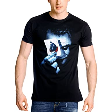 b4d7c1198 Batman The Dark Knight Joker Heath Ledger T-Shirt, Licensed, Black:  Amazon.co.uk: Clothing