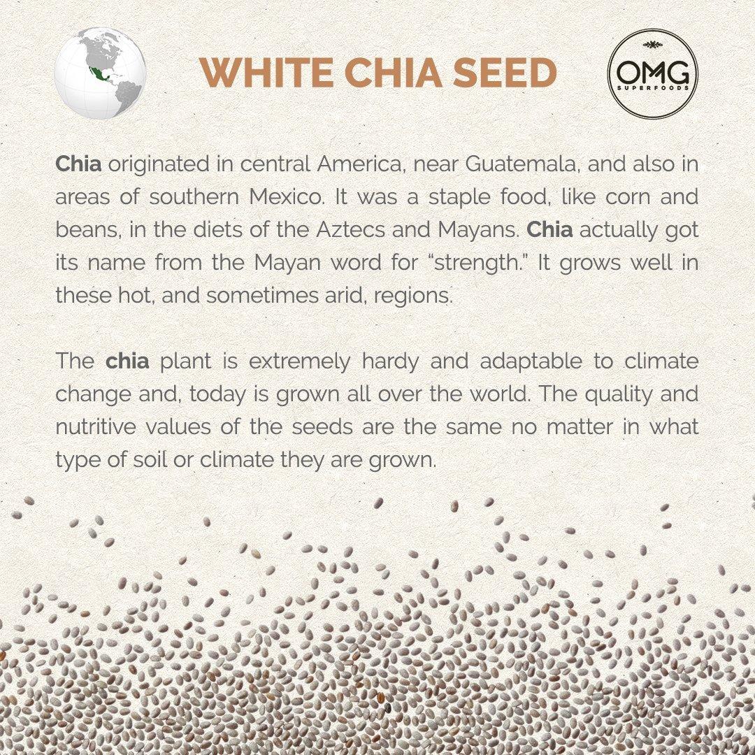 Ancestral raíces Blanco Semillas de Chia – Ancient y potente ...