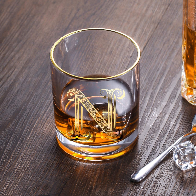 DesBerry S Monogramme Verres /à whisky en cristal avec gravure