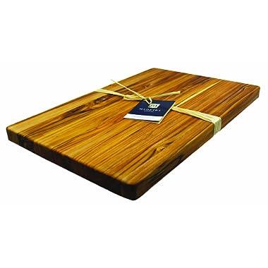 Madeira Jumbo Cutting Board and Chop Block, Teak Edge-Grain, 23  x 15