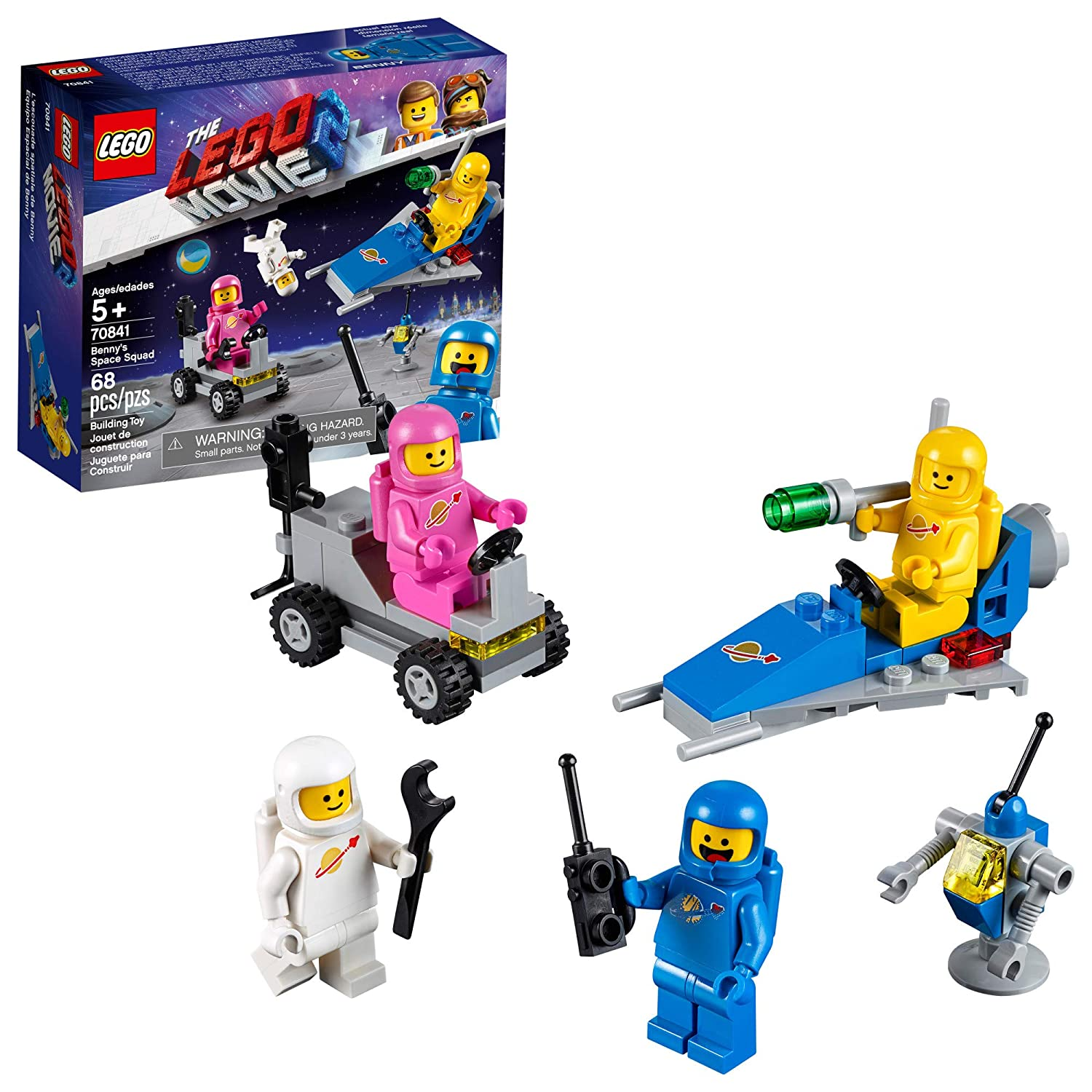 112dfba7de6fe LEGO THE LEGO MOVIE 2 Benny's Space Squad 70841 Building Kit, Kids Playset  with Space Toys and Astronaut Figures, New 2019 (68 Pieces)