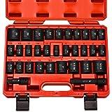 """NEIKO 02447A conjunto de soquetes de impacto mestre de 1,27 cm   32 peças   kit de soquetes rasos   padrão SAE (3/8""""-1-1/14"""")"""
