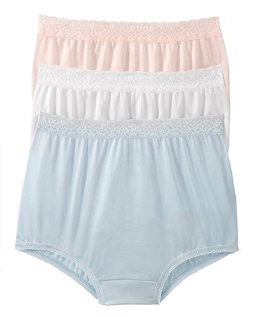f46cbf937e79 National Full Coverage Nylon Panties, 6-pk at Amazon Women's Clothing  store: Briefs Underwear