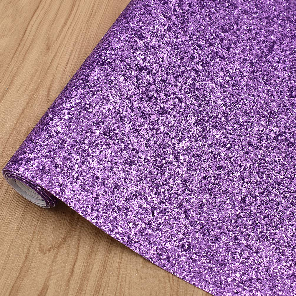 CHZIMADE 12inch x 53inch Chunky Leather Glitter Faux Fabric DIY Sheet Canvas Back Great for Hair Bows Making Craft by CHZIMADE (Image #5)