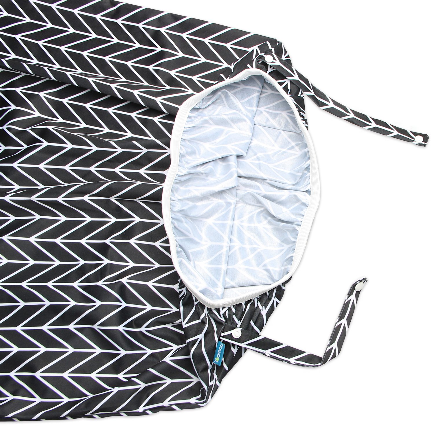 Teamoy Reusable Pail Liner for Cloth Diaper//Dirty Diapers Wet Bag Gray Arrow+Black Arrow 2 Pack