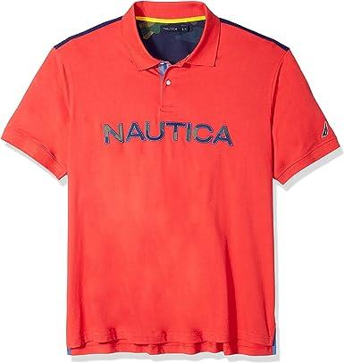 Nautica Hombre Z84500 Manga corta Camisa polo: Amazon.es: Ropa y accesorios