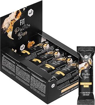nu3 Fit Protein Bar – Barritas de proteína (12 x 50g) - Barras proteicas sin aceite de palma – Solo 193 calorías – con whey protein, soja y colágeno ...