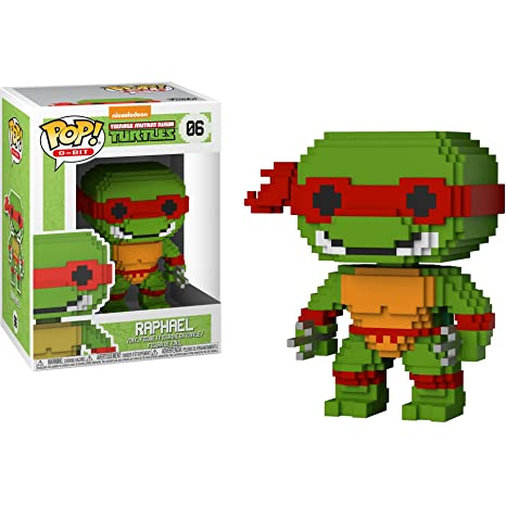 Funko Raphael POP! 8-bit x Teenage Mutant Ninja Turtles Vinyl Figure + 1 Official TMNT Trading Card Bundle [#006]