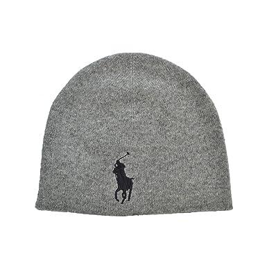 e95fa25a93f Ralph Lauren Bonnet Big Poney gris pour homme  Amazon.fr  Vêtements ...