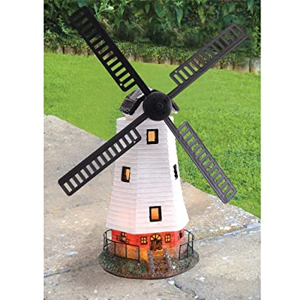 Lighthouse or Windmill Solar Motion LED Light Kingfisher Gardening 1 Supplied