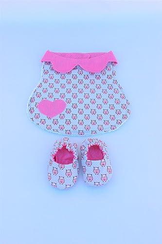Babero para recién nacido, patucos de tela reversibles, pack regalo ...