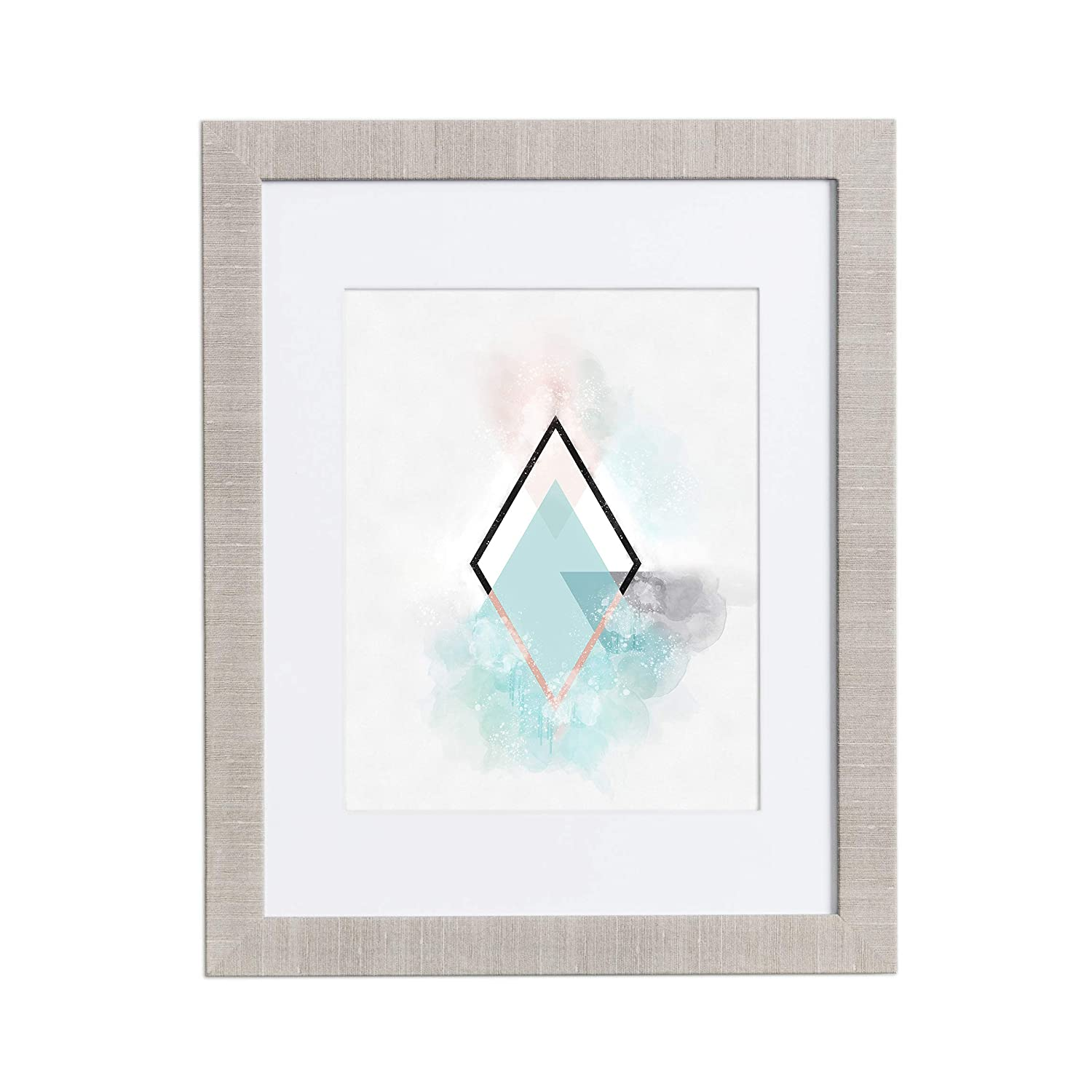 Amazon.com - 11x14 Picture Frame Modern Gray - Matted to 8x10 ...