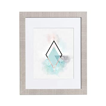 Amazoncom 18x24 Picture Frame Modern Gray Matted For 12x18