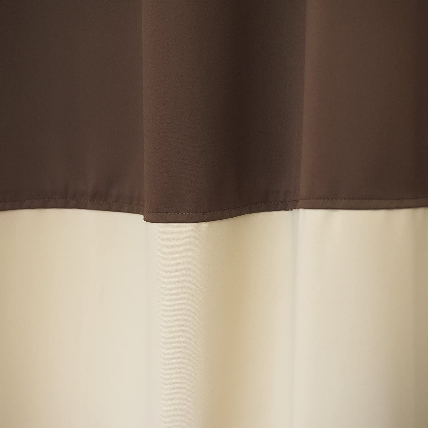 Black//Grey -52 W x 84 L - Set of 2 Panels Antique Bronze Grommet Top Best Home Fashion Colorblock Thermal Insulated Blackout Curtains