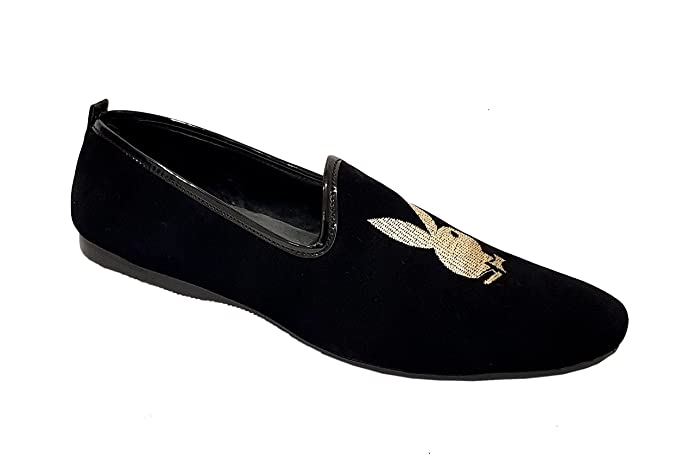 21ca3e52ad2 Men s Velvet Slip-On Loafer (Black   Silver)  Buy Online at Low Prices in  India - Amazon.in