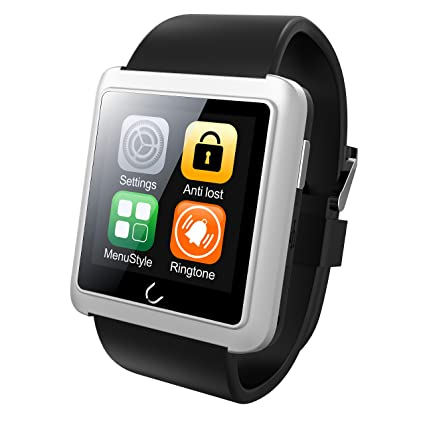 Reloj inteligente, Uwatch U10L Bluetooth 4.0 Podómetro brújula SMS Nota Sleep vigilancia Smart deporte reloj para Samsung HTC Sony Nokia Android teléfonos ...