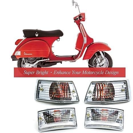 Amazon.com: BSK Turn Signal Light Blinker Indicator Light E-Mark for Vespa PX 125 150 200 LML Star VSX VNX Stella V8311 V8029 (1 set of 4): Automotive