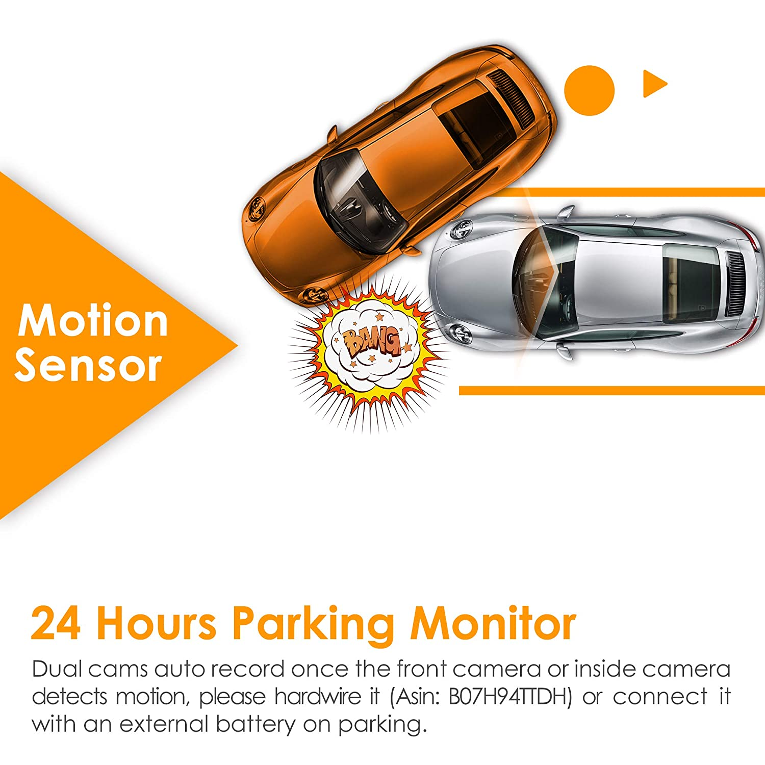 Wave Guard Parking Monitor Super Night Vision Vantrue T2 24//7 Surveillance Super Capacitor Dash Cam for Cars HDR G-Sensor /& Loop Re Full HD 1920X1080p OBD Hardwire Car Camera 2.0 LCD 160/° Wide Angle Dash Camera Car Video Recorder with Sony Sensor