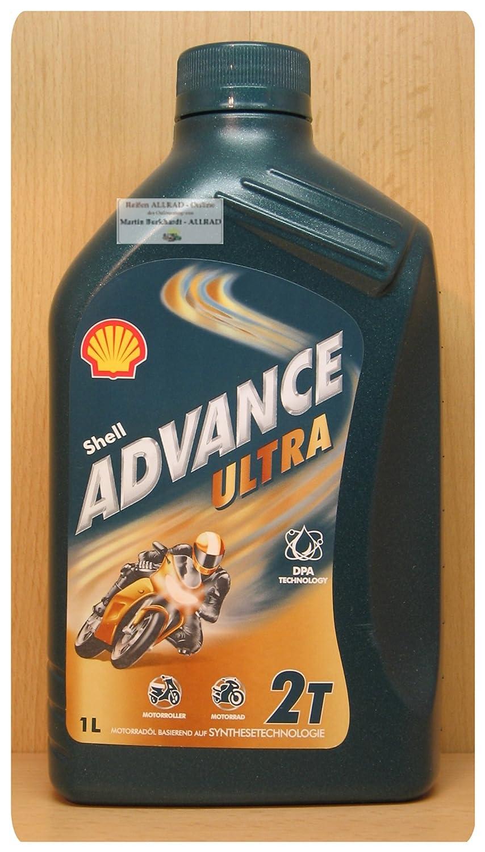 Shell Advance Ultra 2 T Lubrificante 100% Sintetico Per moto 2 Tempi 1 Litro Euro/lt 9, 20 5361