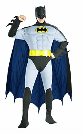 Amazon.com Rubieu0027s Costume Dc Comics Adult Deluxe Muscle Chest The Batman Costume Clothing  sc 1 st  Amazon.com & Amazon.com: Rubieu0027s Costume Dc Comics Adult Deluxe Muscle Chest The ...