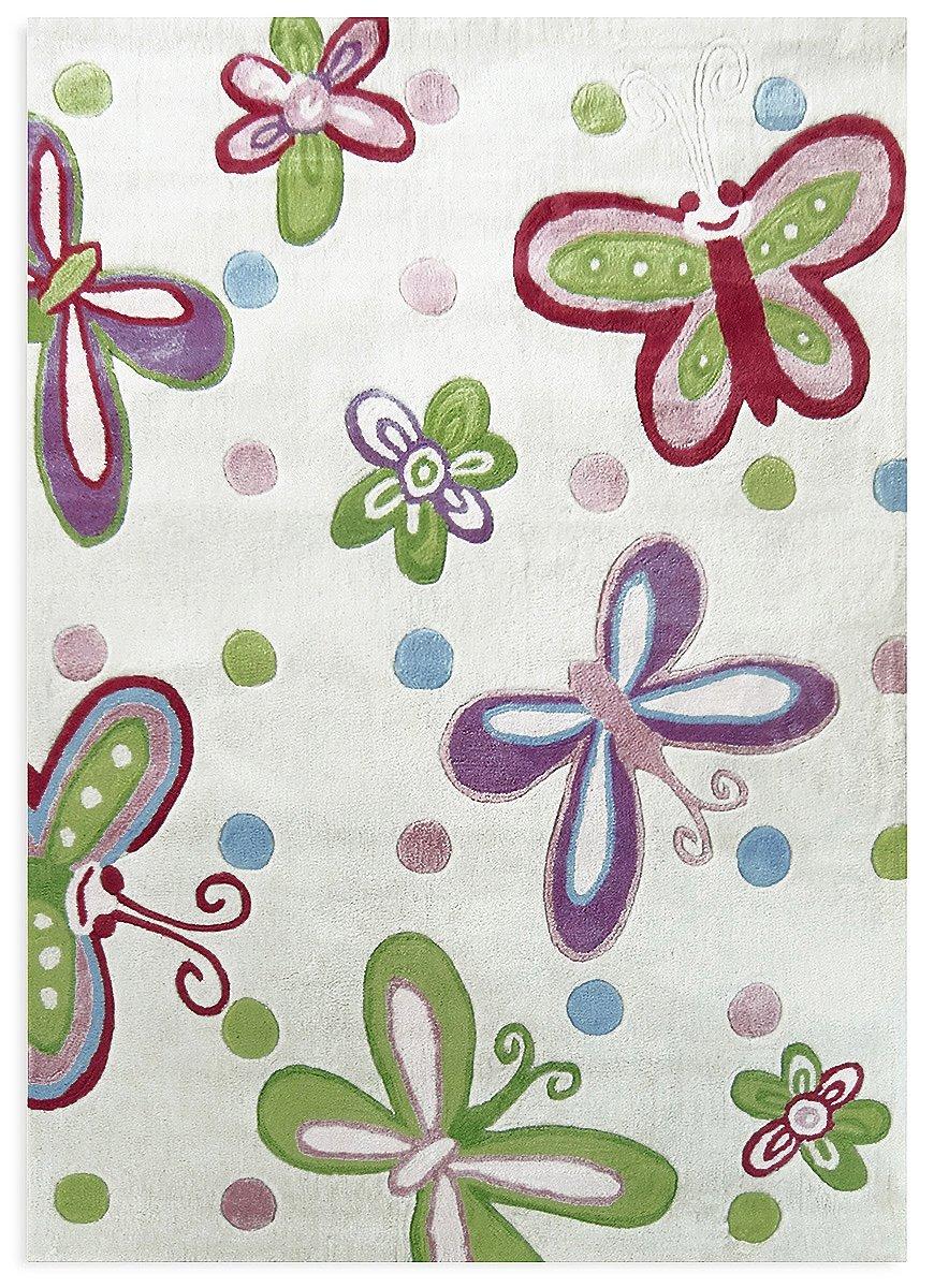 Livone Kinderteppich Happy Rugs SCHMETTERLING creme pastell 120x180 cm