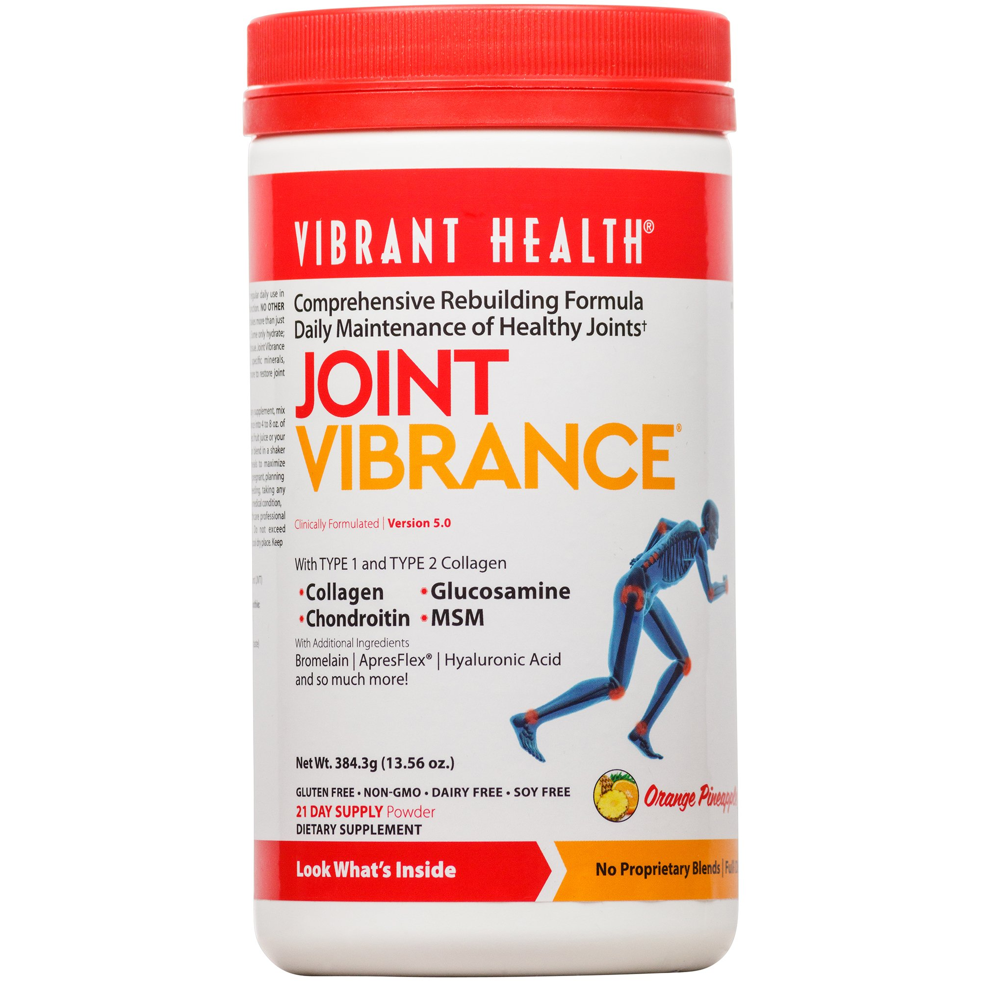 Vibrant Health - Joint Vibrance - Comprehensive Joint Support with Chondroitin and Glucosamine for Daily Maintenance, 13.56 ounce (FFP)