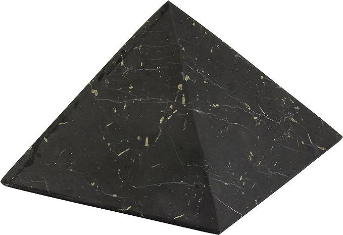 Pyramide en Cristal V/éritable shungite Pyramide Poli Heritage de Car/élie Company 3/cm
