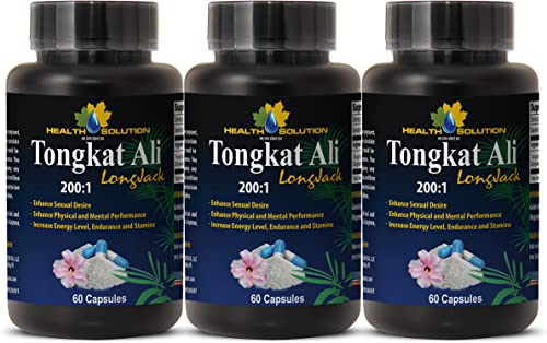Sexual Enhancement Pills Best Seller – TONGKAT ALI Root Extract 200 1 LONGJACK – Tongkat ali 400mg – 3 Bottles 180 Capsules