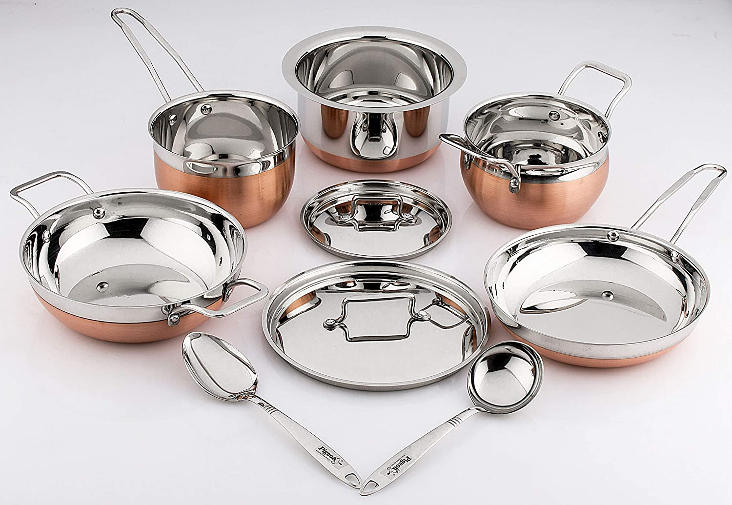Pigeon Neo Copper Cookware Set, 9-Pieces