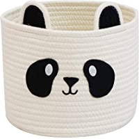 T&T Homewares Small Cute Panda Cotton Rope Storage Basket for Baby Diaper Organizer, Baby Laundry Baskets, Nursery…