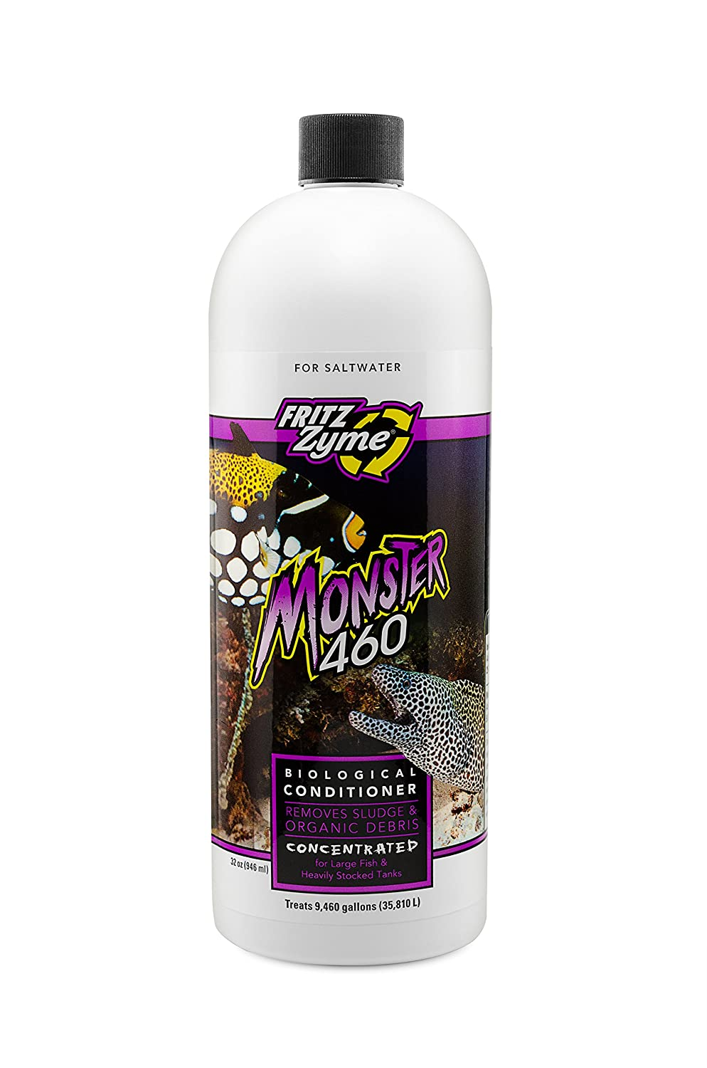 Fritzzyme MONSTER 460Concentrated Saltwater Biological Aquarium Cleaner32oz
