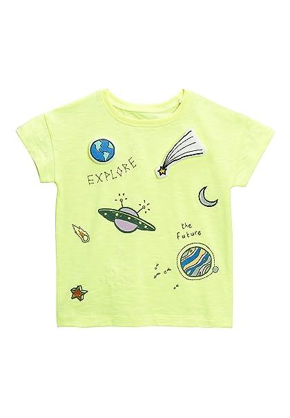 next Niñas Camiseta con Estampado Cósmico (3 Meses - 6 Años) Lima 5-